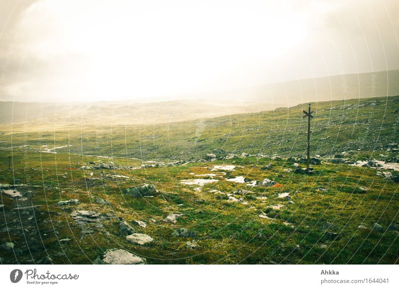 Tundra II Landscape Bad weather Storm Wind Gale Rain Lanes & trails Signs and labeling Infinity Wet Wild Belief Humble Fear of the future Timidity