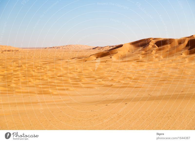 dune in oman old desert rub al khali Sky Nature Vacation & Travel Beautiful Summer White Sun Landscape Loneliness Black Yellow Gray Stone Sand Rock Horizon