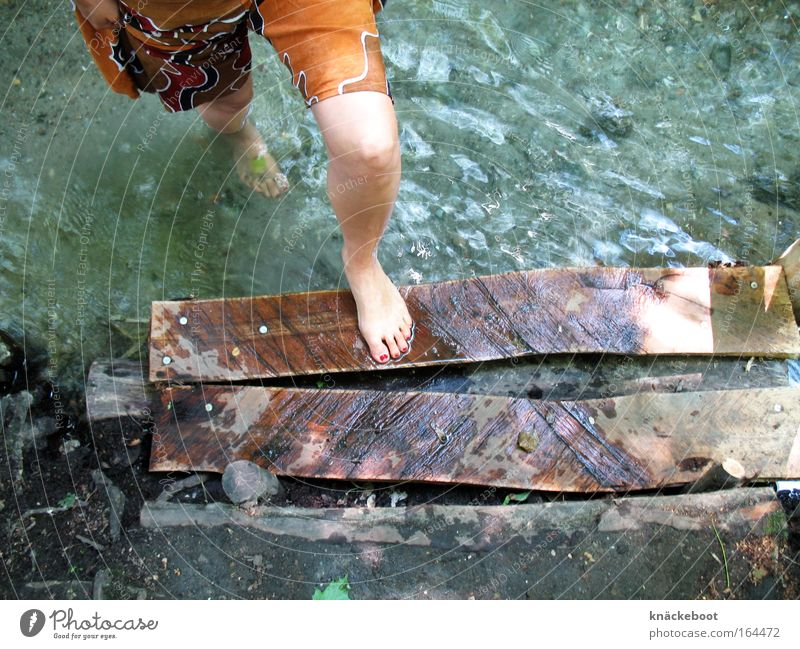 Human being Youth (Young adults) Water Summer Calm Relaxation Legs Young woman Wellness River Colour photo