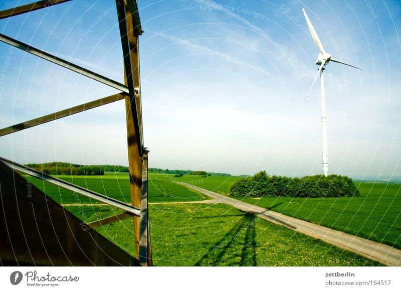 wind power Wind energy plant Renewable energy Energy industry Environmental protection Climate Climate protection Climate change Sky Clouds Cirrus Landscape