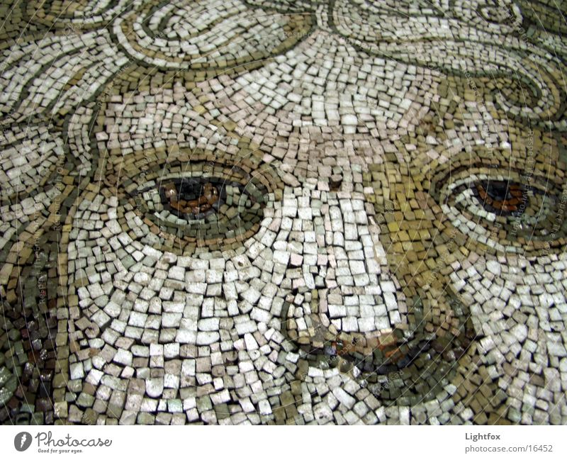 Mosaic or moss ik nik St. Peter's Cathedral Vatican Rome Italy Leisure and hobbies Detail Eyes Face Mouth