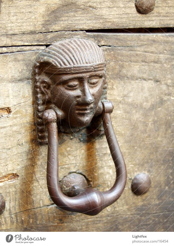 Old Wood Metal Door Italy Things Gate Egypt Pharaohs Knocker