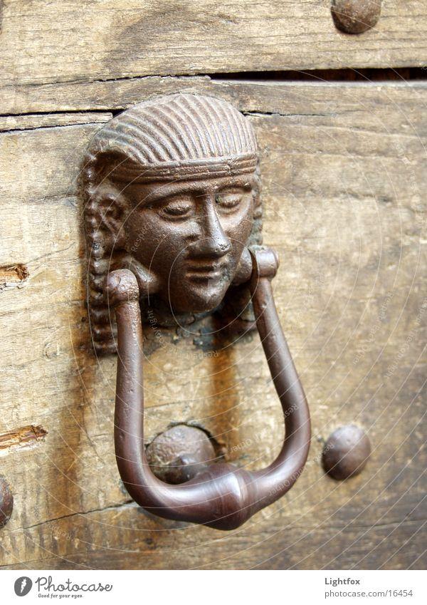 Old Wood Metal Door Italy Things Gate Egypt Pharaohs Knocker
