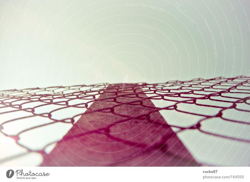 Sky Metal Pink Concrete Threat Net Rust Barrier Frustration