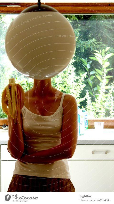 lamphead Snapshot Lamp Banana Kitchen Woman Funny Art Globe Window Top Human being Head Bowl Arm