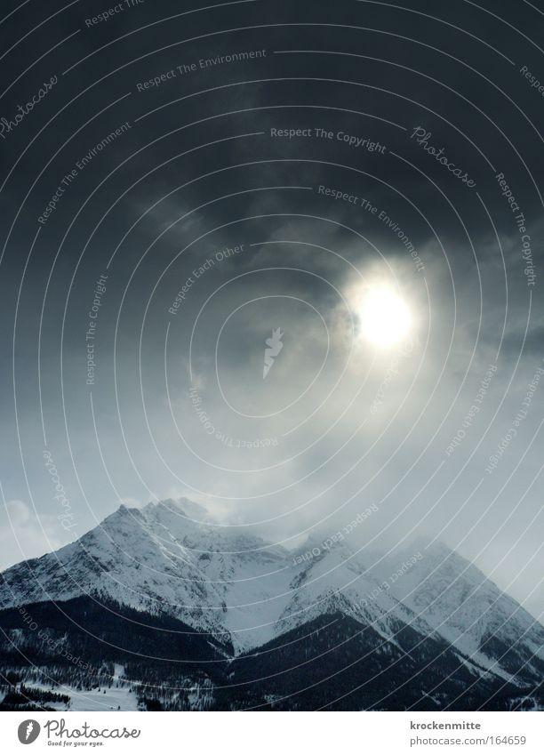 Nature Sky Sun Winter Clouds Dark Snow Mountain Landscape Ice Environment Frost Threat Switzerland Alps Peak
