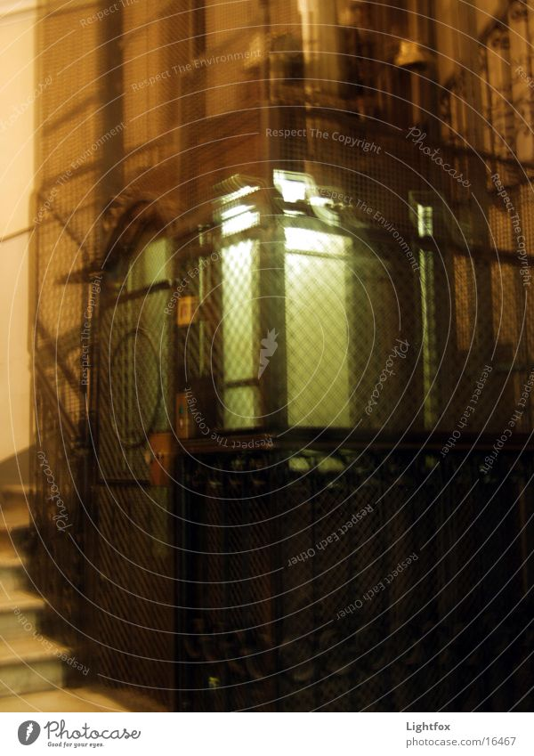 Old Wood Metal Driving Italy Historic Elevator Iron Staircase (Hallway) Get in