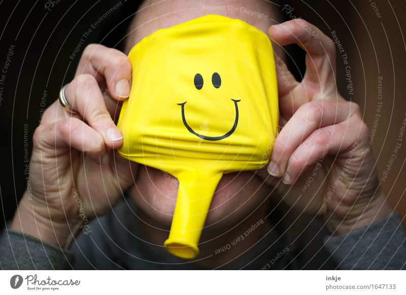 Human being Woman Hand Joy Face Adults Yellow Life Emotions Funny Lifestyle Leisure and hobbies Communicate Happiness Smiling Sign