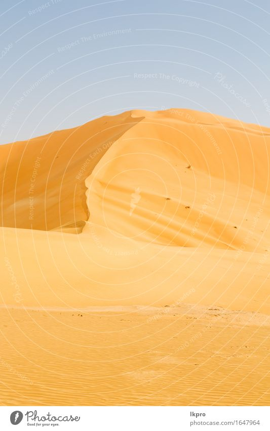 sand dune in oman old desert rub al khali Sky Nature Vacation & Travel Beautiful Summer White Sun Landscape Loneliness Black Yellow Gray Stone Sand Rock Horizon
