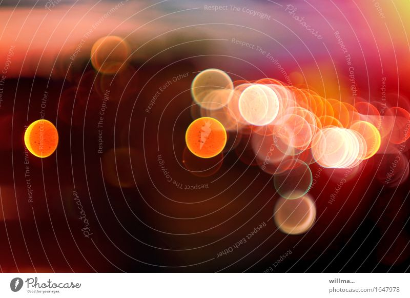 colored circles of light, glare spots Lifestyle Harmonious Well-being Illuminate Yellow Pink Pool of light Blur Visual spectacle Lens flare