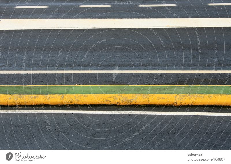 road marking Colour photo Subdued colour Multicoloured Exterior shot Abstract Pattern Deserted Copy Space top Copy Space bottom Copy Space middle