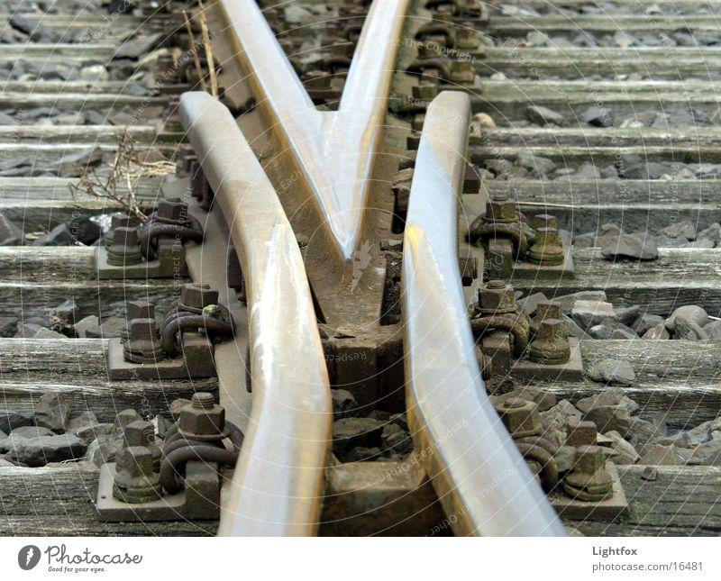 Wood Metal Railroad Industrial Photography Railroad tracks Arrow Direction Rust Ask Iron Road marking Orientation Switch Joist Whereto