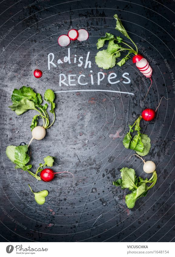 Background for radish recipes Food Vegetable Lettuce Salad Nutrition Organic produce Vegetarian diet Diet Style Design Healthy Eating Life Table Nature Sign