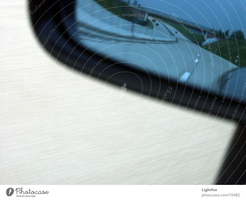 Street Car Concrete Transport Speed Driving Mirror Highway Backwards Compassion Road sign Rear view mirror Expressway sign