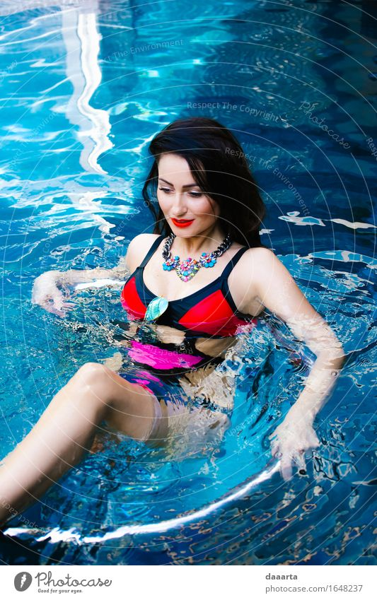 pool diva Lifestyle Elegant Style Design Joy Lipstick Harmonious Spa Swimming pool Swimming & Bathing Leisure and hobbies Adventure Freedom Living or residing