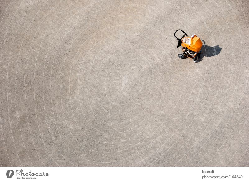 Human being Loneliness Sand Small Orange Infancy Free Doomed Lose Find Aerial photograph Miss Baby carriage