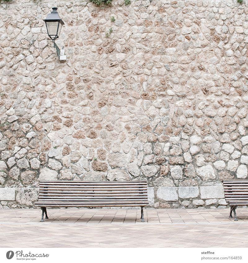 Calm Relaxation Deserted Wall (barrier) Break Bench Village Idyll Lantern Mediterranean Old town