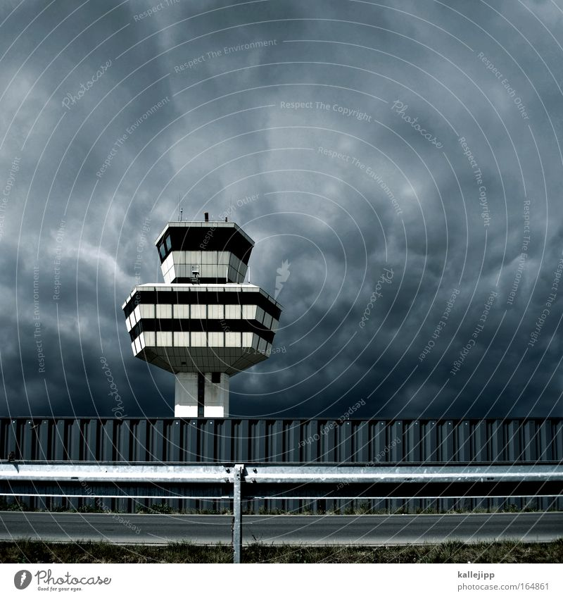 Building Rain Flying Airplane Transport Aviation Tower Technology Logistics Telecommunications Observe Profession Storm Airport Traffic infrastructure Thunder and lightning