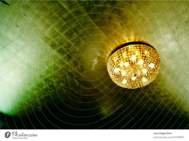 Golden times Colour photo Interior shot Experimental Deserted Copy Space left Artificial light Shadow Worm's-eye view Luxury Style Interior design Lamp