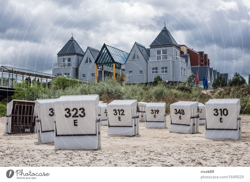 Building in Heringsdorf on the island of Usedom Relaxation Vacation & Travel Tourism Beach Ocean Clouds Coast Baltic Sea Architecture Tourist Attraction