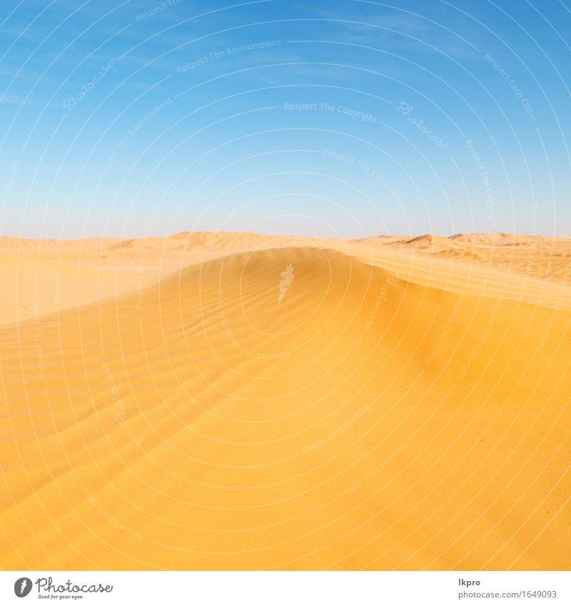sand dune in oman old desert rub al khali Sky Nature Vacation & Travel Beautiful Summer White Sun Landscape Loneliness Black Yellow Gray Stone Sand Rock Horizon
