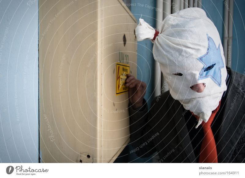 Kayfabe Colour photo Subdued colour Interior shot Copy Space left Day Portrait photograph Front view Forward Downward Carnival Hallowe'en Masked ball