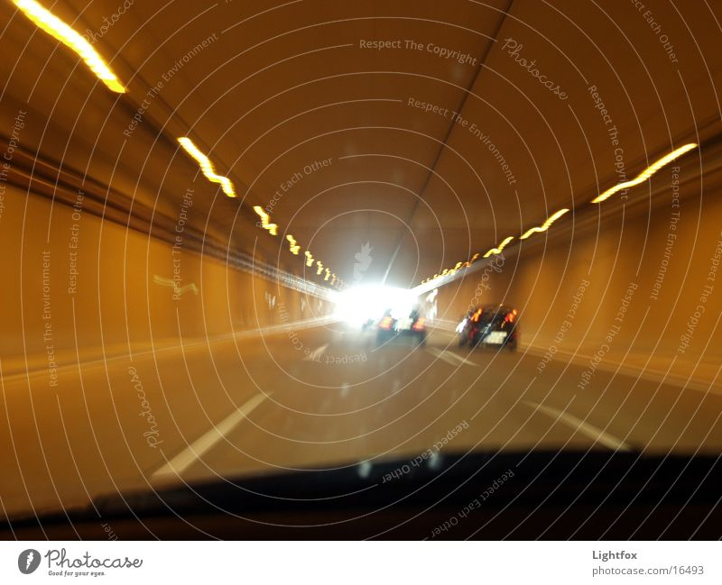 There's light at the end of the tunnel!!!!! Tunnel Light Speed Car Street blurred vision Line