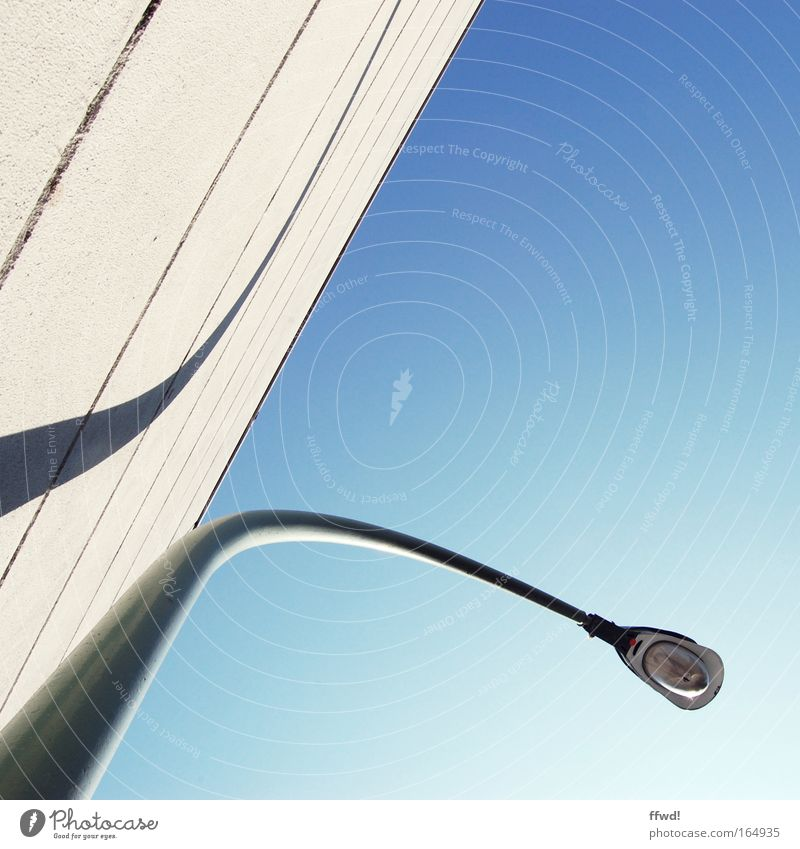 urban street style Colour photo Exterior shot Day Worm's-eye view Elegant Style Sky Building Architecture Wall (barrier) Wall (building) Facade Lantern