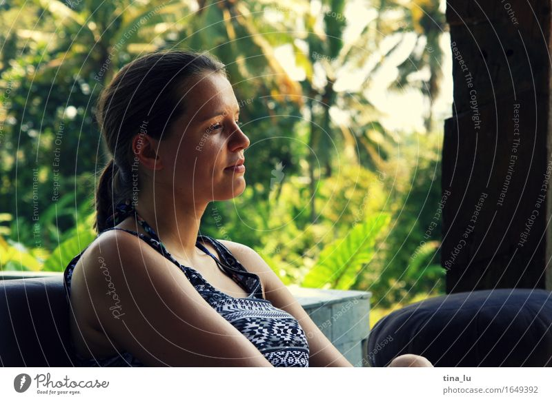 Relaxing in Ubud Human being Vacation & Travel Youth (Young adults) Beautiful Summer Young woman Relaxation 18 - 30 years Adults Healthy Happy Tourism