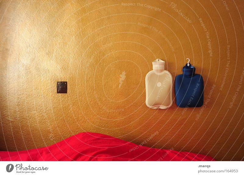 pandemic Colour photo Interior shot Copy Space left Health care Flat (apartment) Interior design Bed Bedroom Sleep Living or residing Gold Red