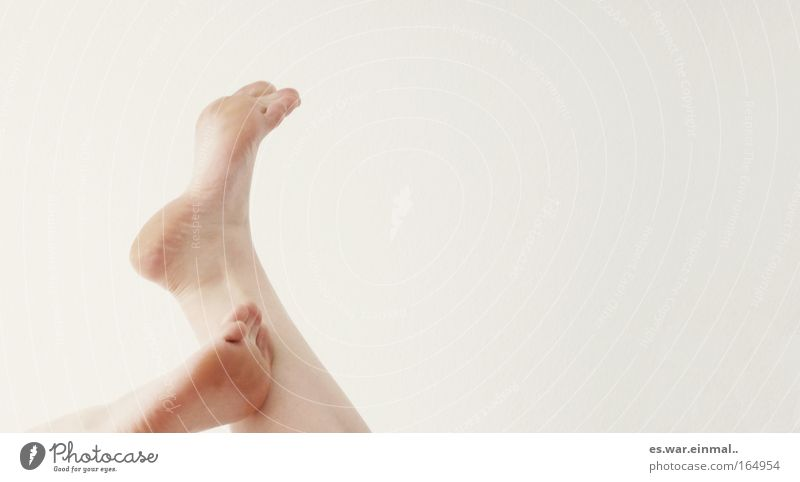 Movement Feet Simple Touch Barefoot Toes Scratch Caress Human being Caresses Bright background