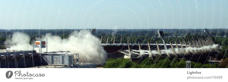Sky Above Air Soccer Historic Duesseldorf Stadium North Rhine-Westphalia Arena Bang Blow up