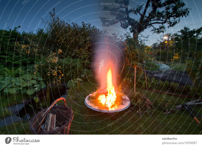Nature Summer Relaxation Spring Wood Garden Open Fire Blaze Smoke Garden plot Exhaust gas Burn Flame Fireplace Fire department
