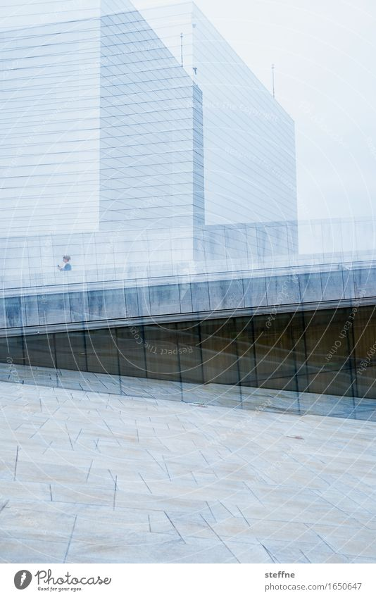 oscillations Landmark Town Oslo Opera Double exposure Geometry Colour photo Exterior shot Experimental Copy Space bottom