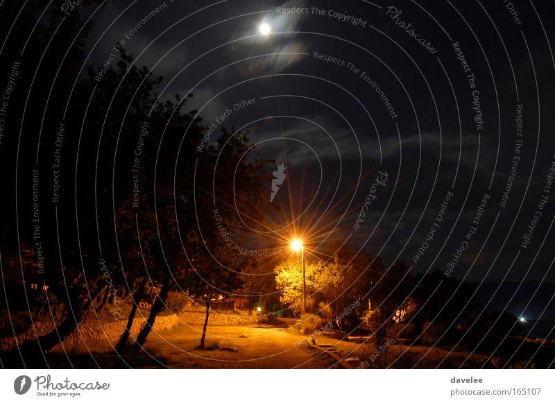Croatia by night Colour photo Exterior shot Deserted Night Long exposure Landscape Night sky Moon krk Europe Black Day