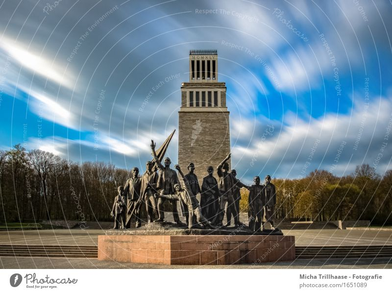 Memorial & Bell Tower Memorial KZ - Buchenwald Freedom Education Study Educational trip Sculpture Architecture Sky Clouds Manmade structures Monument Sadness