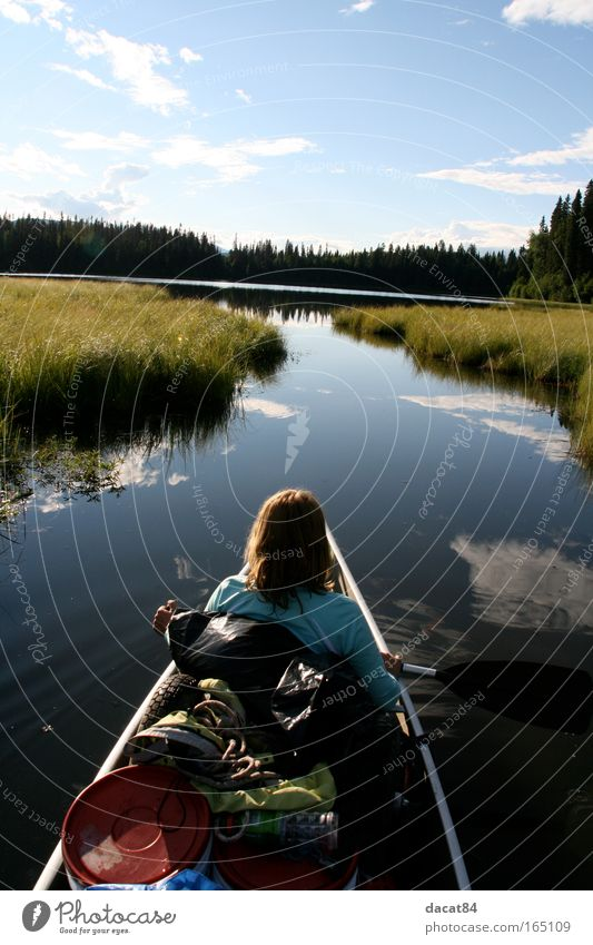 Nature Vacation & Travel Summer Far-off places Environment Landscape Freedom Lake Contentment Trip Adventure Tourism River Curiosity Canoe Summer vacation