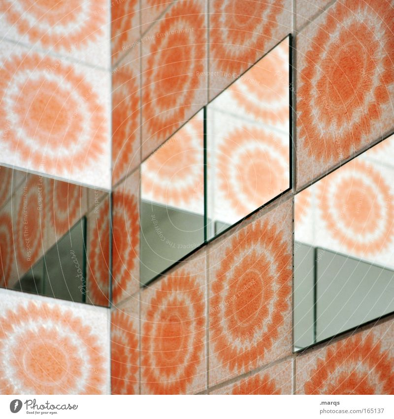 Colour Wall (building) Wall (barrier) Style Line Interior design Orange Flat (apartment) Exceptional Design Perspective Living or residing Corner Retro Bathroom
