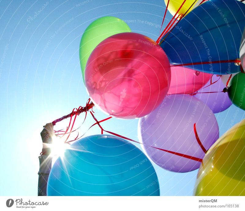 Sky Jubilee Beautiful Vacation & Travel Joy Emotions Happy Party Art Contentment Feasts & Celebrations Birthday Flying Modern Esthetic Aviation