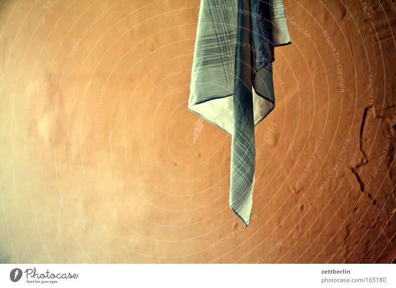 Colour Wrinkles Dry Hang Laundry Rag Household Textiles Hang up Copy Space Cotton Landscape format Handkerchief