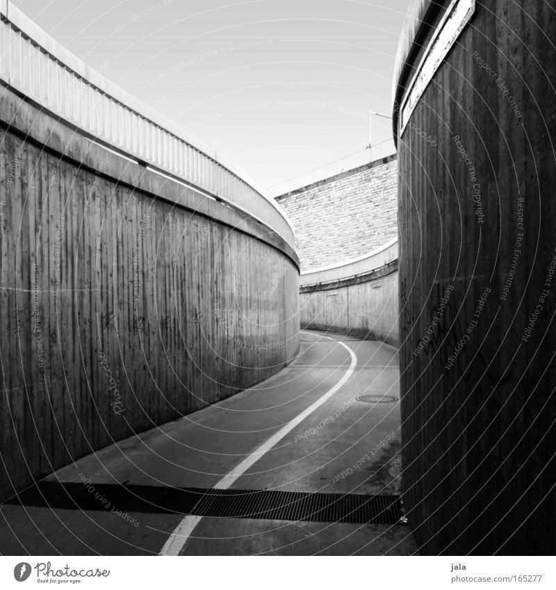 what awaits me Black & white photo Exterior shot Deserted Day Shadow Town Places Tunnel Manmade structures Architecture Lanes & trails White
