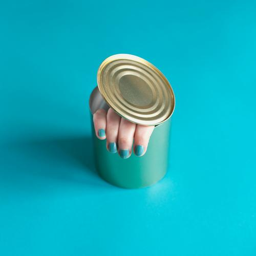 finger food Food Nutrition Finger food Manicure Nail polish Human being Feminine Woman Adults Hand Fingers 1 Packaging Tin Tin of food Exceptional Threat Creepy