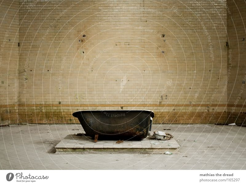 Water Old Loneliness Wall (building) Wall (barrier) Building Dirty Empty Bathroom Broken Clean Trash Tile Manmade structures Room Ruin