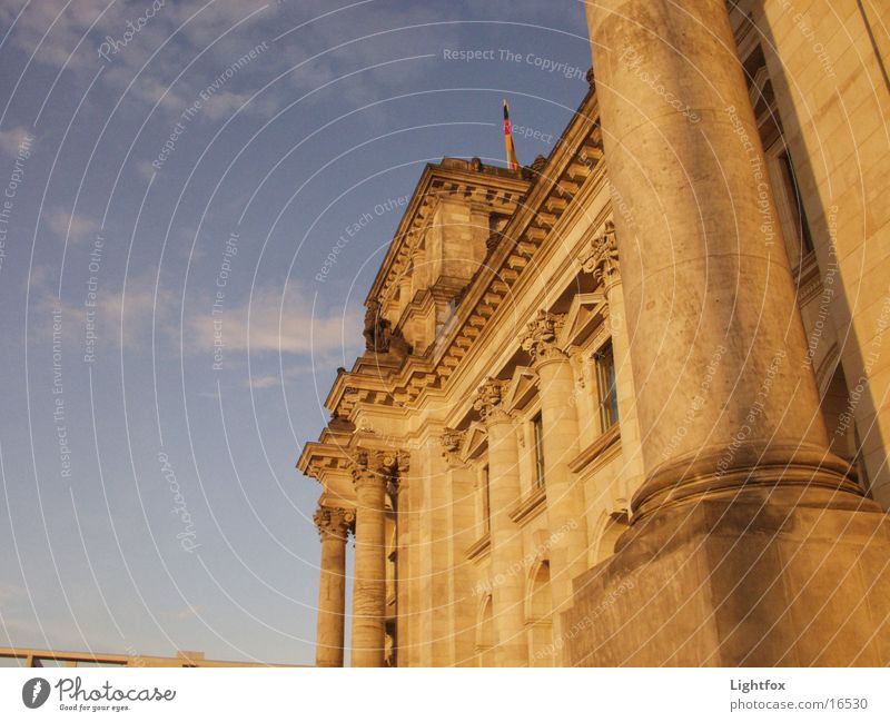 Water Sky Blue City Clouds Dark Berlin Stone Building Orange Perspective Toilet Manmade structures Historic