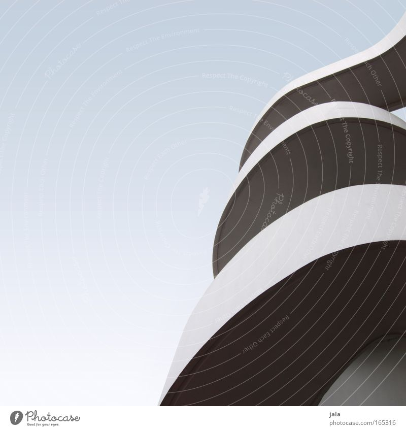 Blue White Architecture Gray Line Elegant Modern Esthetic Manmade structures Curve Cloudless sky Curved Wavy line