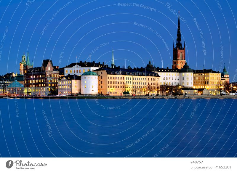 Riddarholmen Stockholm Sweden Town City life Urban building Nordic Foreign countries Hotel Lake Malären Famousness Famous building Day Fjord Church Skyline