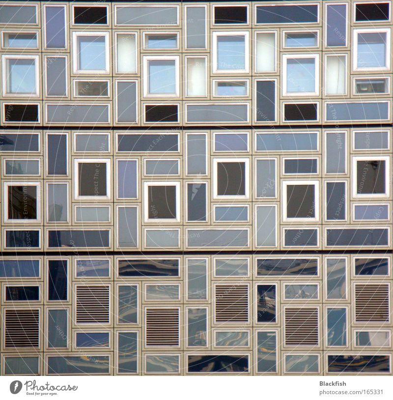 White Blue Black Window Gray Room Art Architecture Flat (apartment) Facade Living or residing Creativity Symmetry Sharp-edged