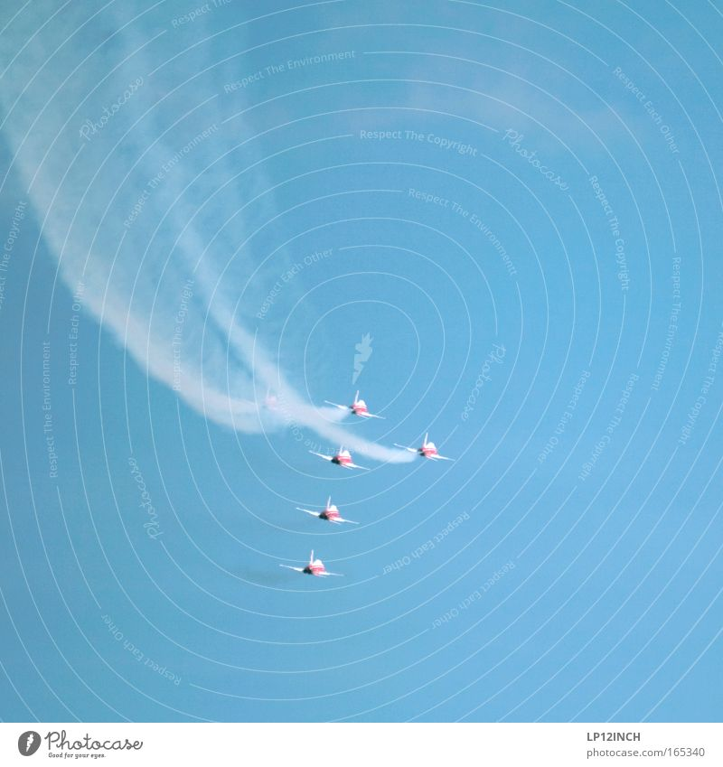 Sky Blue Colour Art Fear Together Flying Airplane Esthetic Dangerous Aviation Threat Shows Observe Switzerland Square