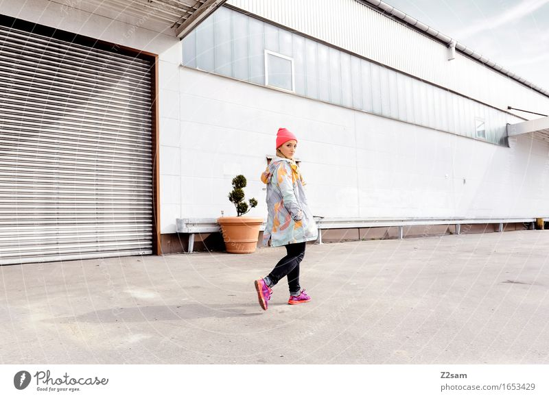 Youth (Young adults) City Beautiful Young woman 18 - 30 years Adults Street Lifestyle Style Fashion Going Design Fresh Elegant Blonde Communicate