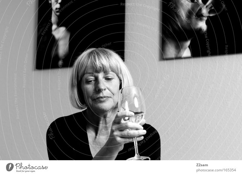 Human being Old Beautiful Adults Face Feminine Think Art Blonde Power Elegant Sit Interior design Design Natural Esthetic